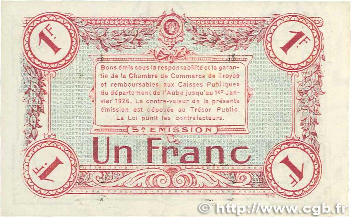 1 franc france r gionalisme et divers troyes 1918 sup b99 2010 billets. Black Bedroom Furniture Sets. Home Design Ideas