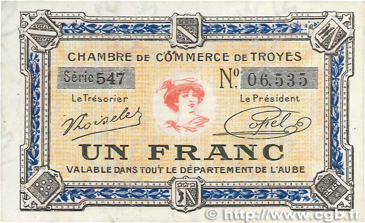 1 franc france r gionalisme et divers troyes 1918 ttb b99 2019 billets. Black Bedroom Furniture Sets. Home Design Ideas