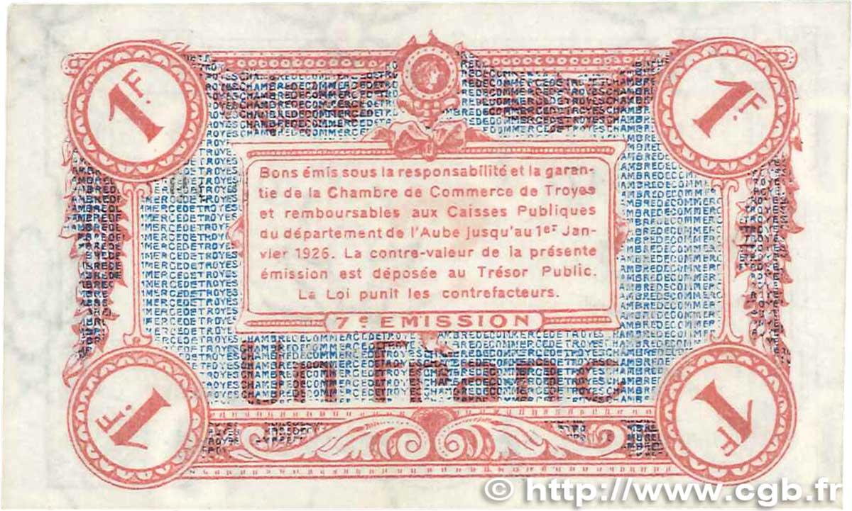 1 franc france r gionalisme et divers troyes 1918 sup b99 2020 billets. Black Bedroom Furniture Sets. Home Design Ideas