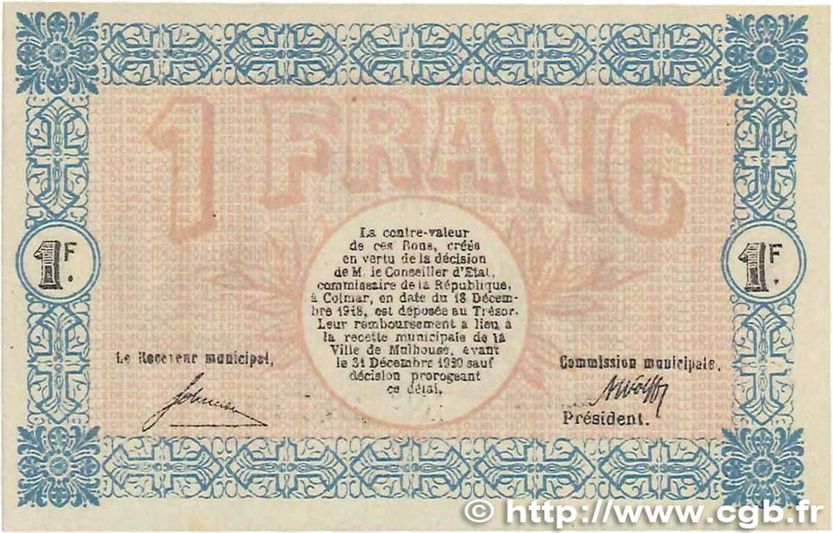 1 franc france r gionalisme et divers mulhouse 1918 spl b99 2118 billets. Black Bedroom Furniture Sets. Home Design Ideas