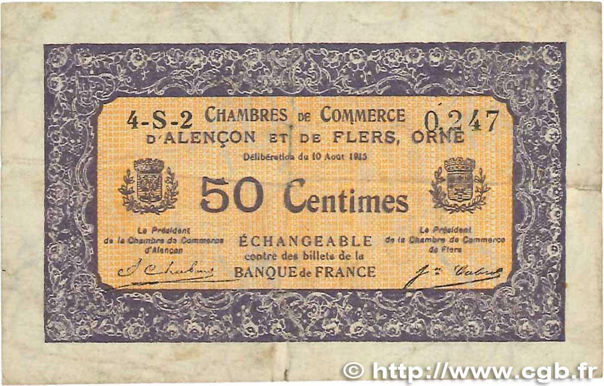 50 centimes france r gionalisme et divers alencon et flers 1915 b99 2409 billets. Black Bedroom Furniture Sets. Home Design Ideas