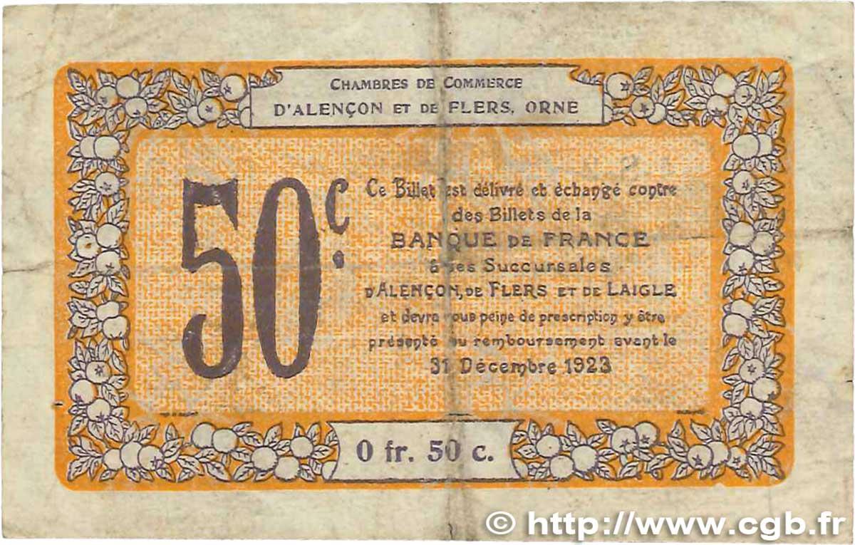 50 centimes france r gionalisme et divers alencon et flers 1915 b b99 2409 billets. Black Bedroom Furniture Sets. Home Design Ideas