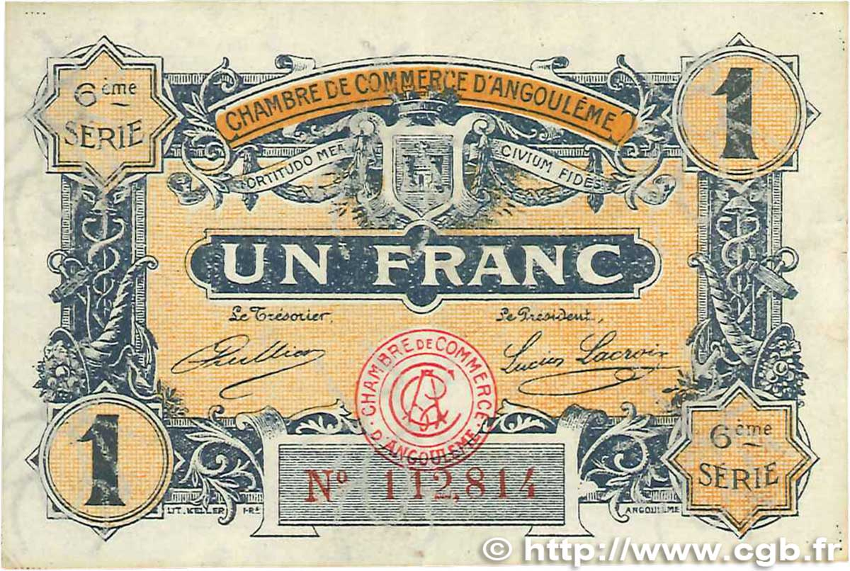 1 franc france regionalism and miscellaneous angoul me