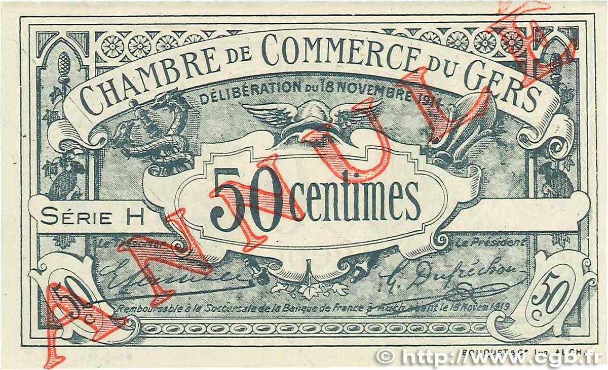 50 centimes annul france r gionalisme et divers auch 1914 b99 2451 billets - Chambre de commerce auch ...
