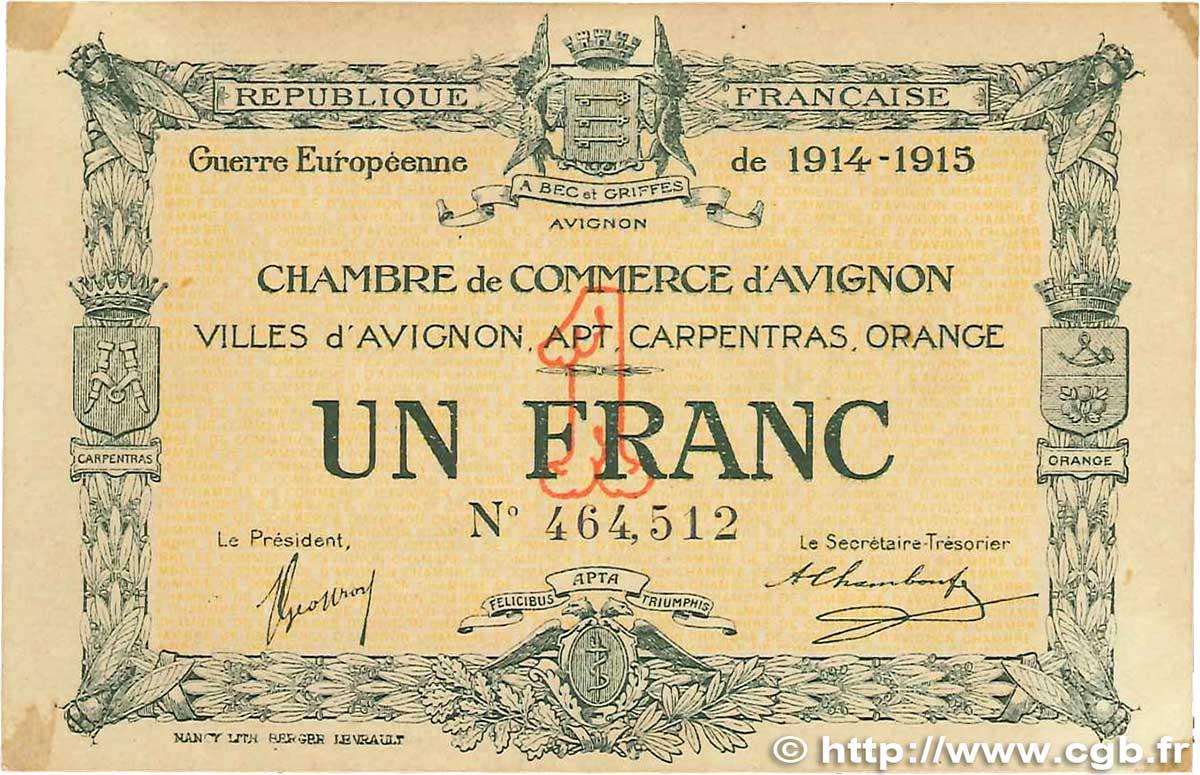 1 franc france regionalismus und verschiedenen avignon for Chambre de commerce d avignon