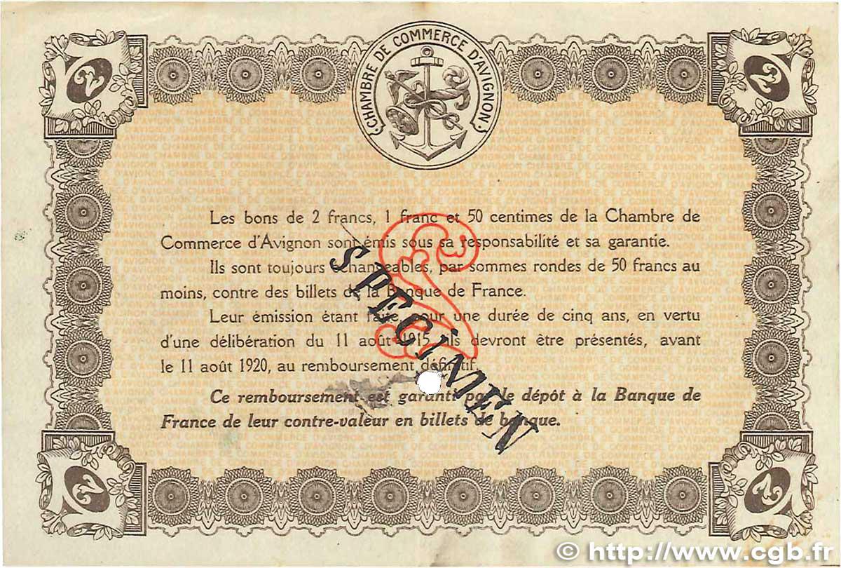 2 francs france regionalism and various avignon 1915 vf b99 2488 banknotes. Black Bedroom Furniture Sets. Home Design Ideas