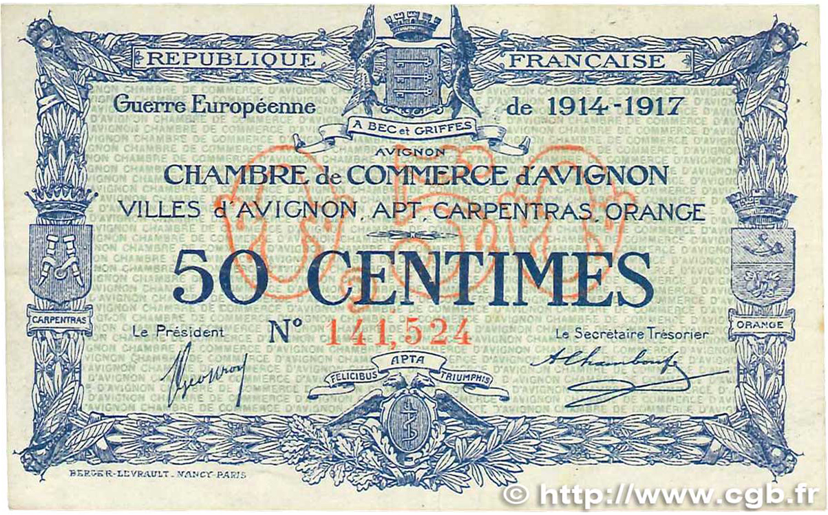 50 Centimes France Regionalism And Miscellaneous Avignon
