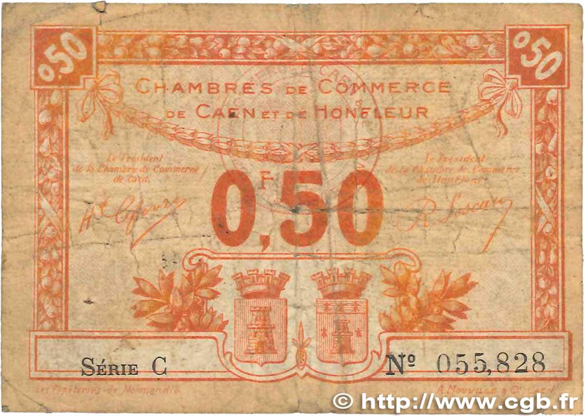 50 centimes france r gionalisme et divers caen et honfleur 1920 b99 2655 billets - Chambre de commerce de caen ...