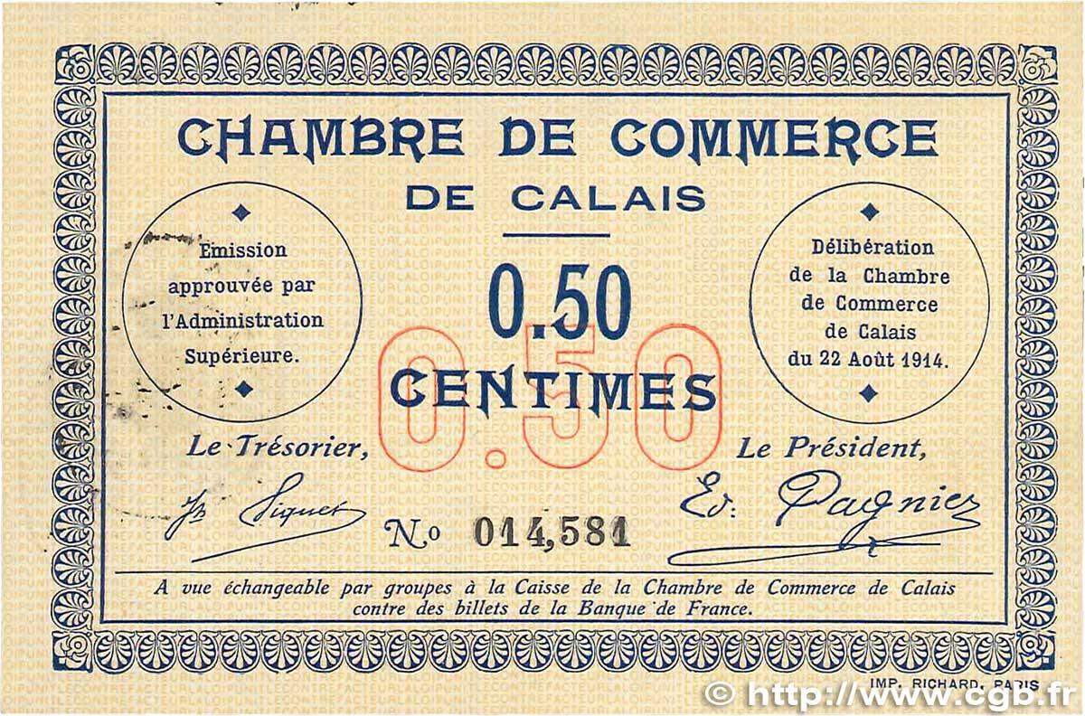 50 centimes france r gionalisme et divers calais 1914 jp for Chambre de commerce calais
