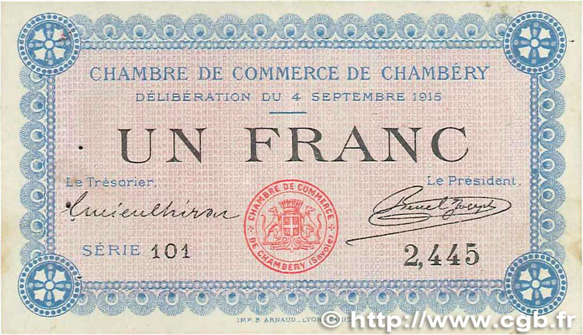 1 franc france regionalismus und verschiedenen chamb ry 1915 b99 2792 banknoten. Black Bedroom Furniture Sets. Home Design Ideas