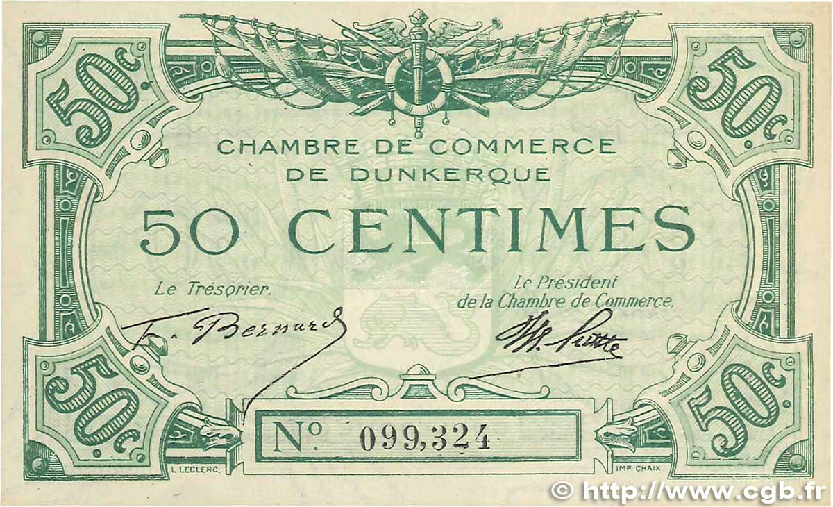50 centimes france regionalism and miscellaneous dunkerque for Chambre de commerce dunkerque
