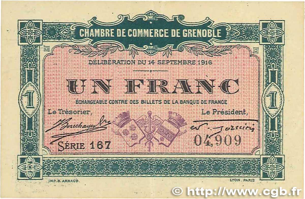 1 franc france regionalismo e varie grenoble 1916 for Chambre de commerce grenoble