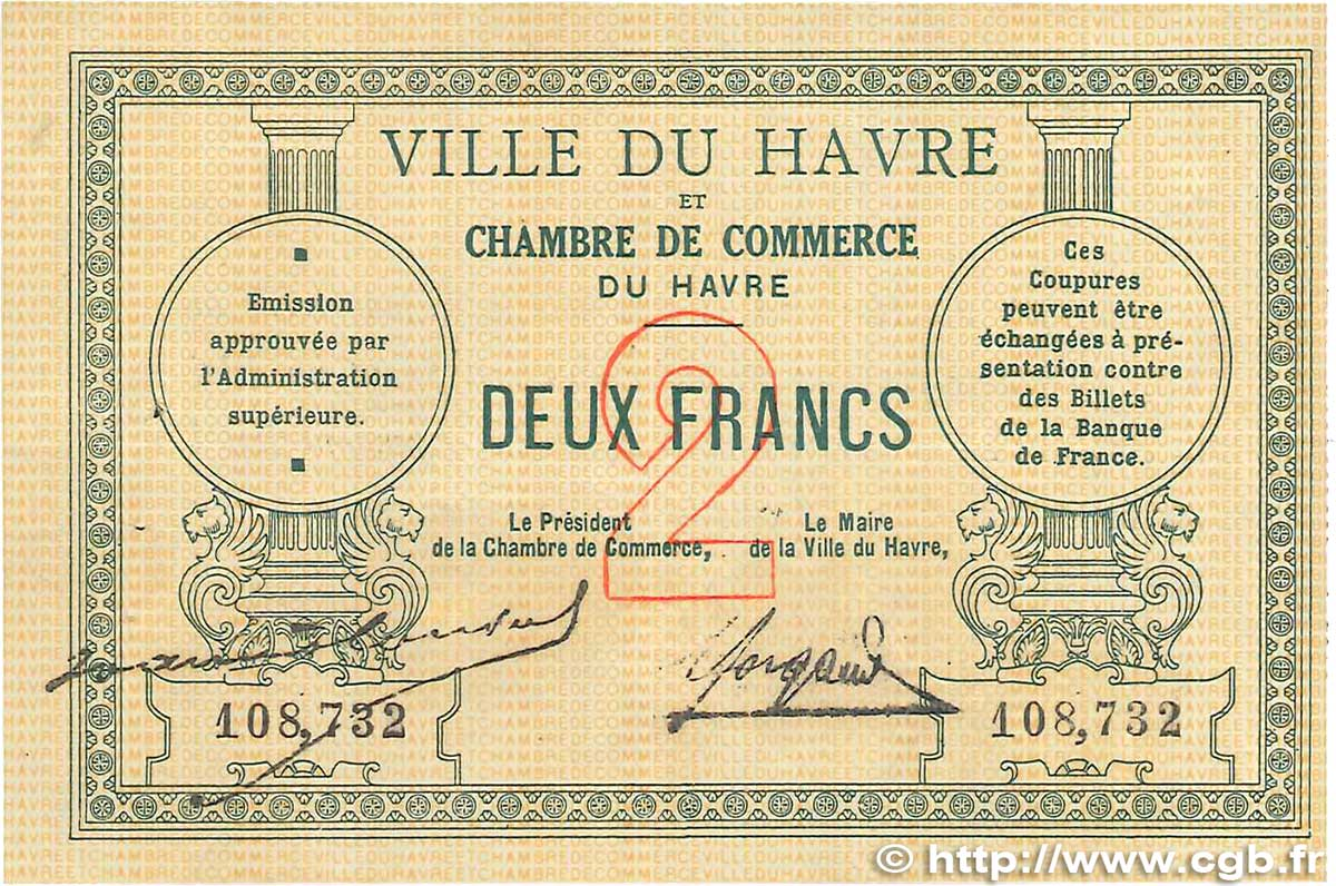 2 francs france r gionalisme et divers le havre 1914 jp for Chambre de commerce mirabel