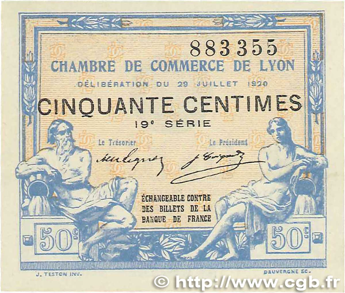 50 centimes france regionalismus und verschiedenen lyon for Chambre commerce lyon