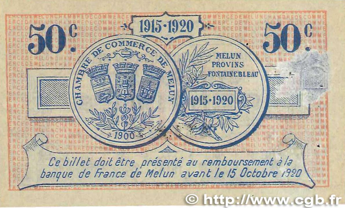 50 centimes france r gionalisme et divers melun 1915 ttb b99 3290 billets - Chambre de commerce melun ...