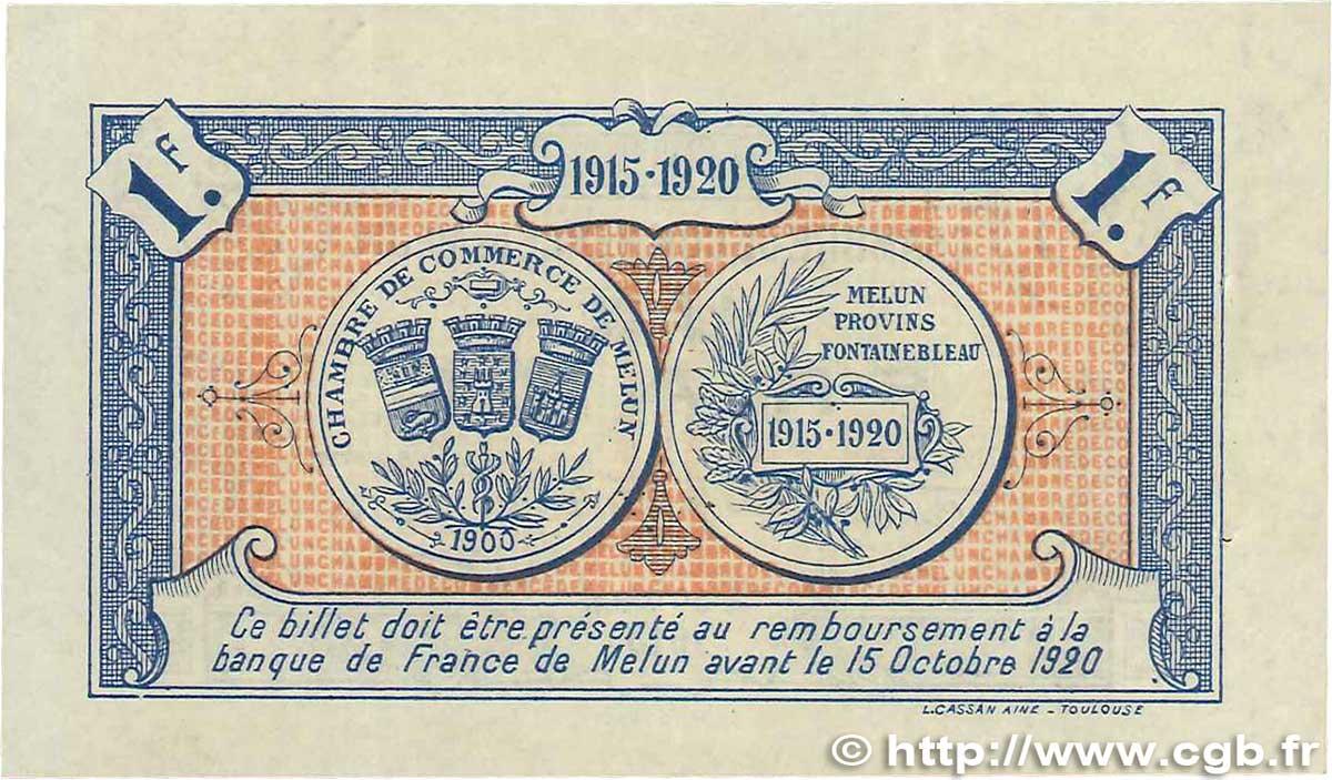 1 franc france r gionalisme et divers melun 1915 ttb b99 3292 billets - Chambre de commerce melun ...