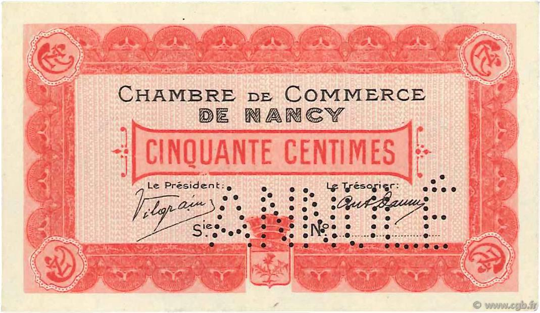 50 centimes france r gionalisme et divers nancy 1915 b99 3410 billets. Black Bedroom Furniture Sets. Home Design Ideas