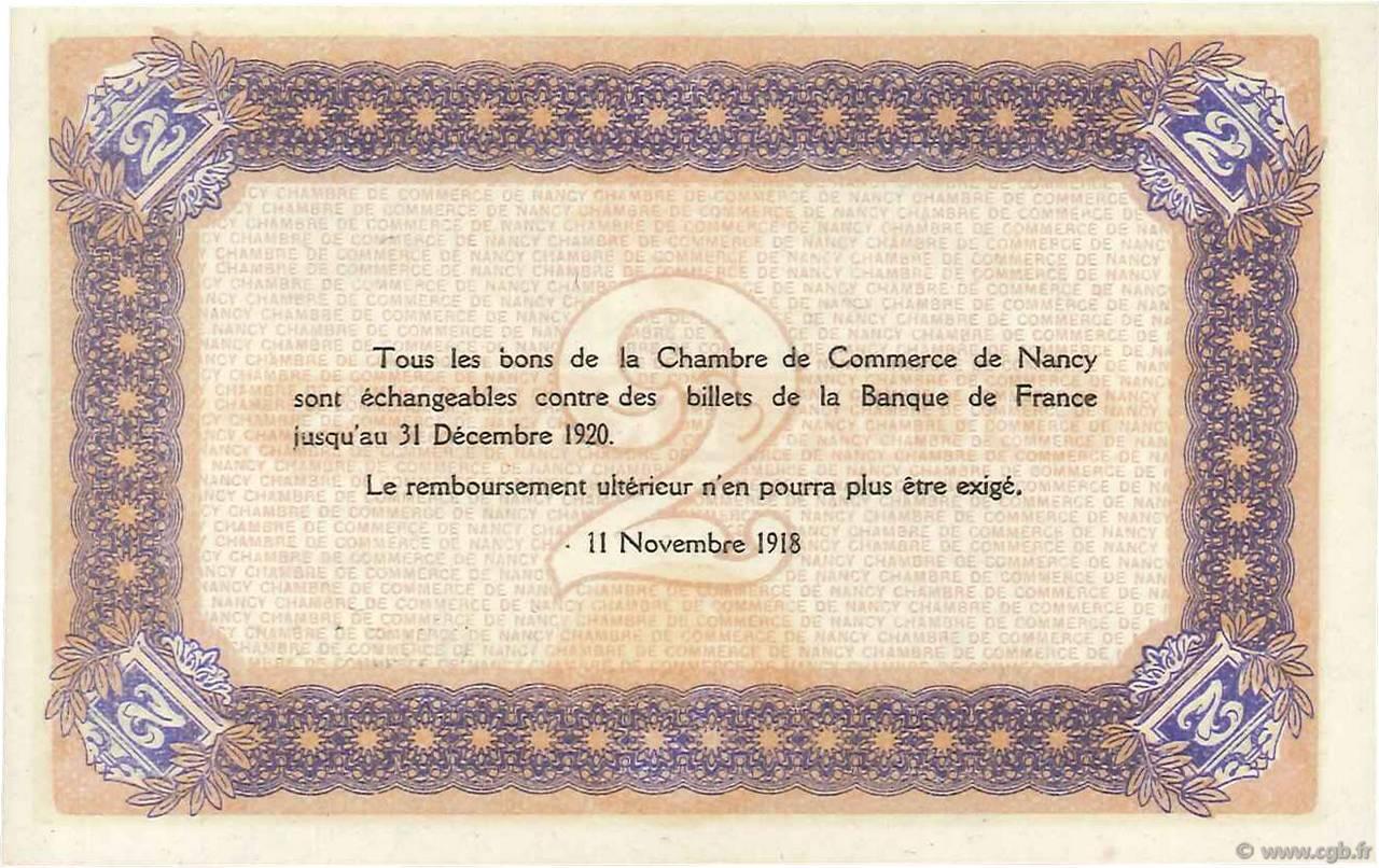 2 francs france regionalismo e varie nancy 1918 fdc b99 3420 banconote. Black Bedroom Furniture Sets. Home Design Ideas