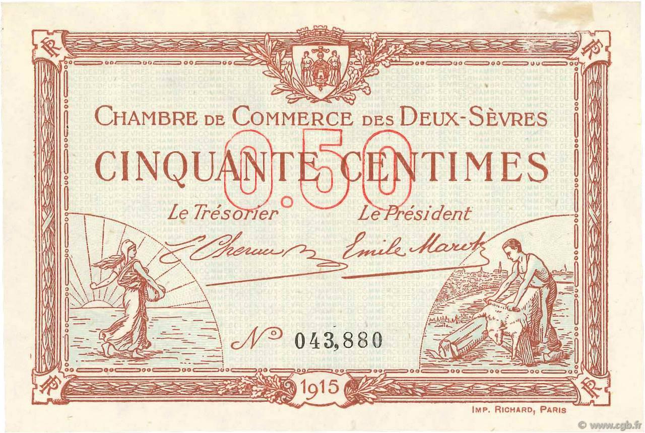 50 centimes france r gionalisme et divers niort 1915 pr spl b99 3506 billets - Chambre de commerce niort ...