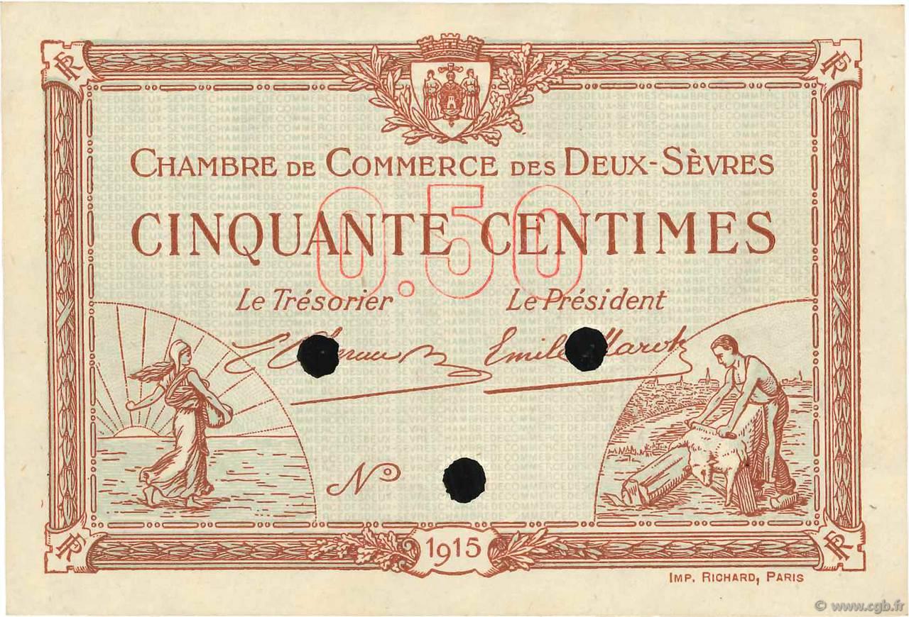 50 centimes sp cimen france r gionalisme et divers niort 1915 b99 3507 billets - Chambre de commerce niort ...