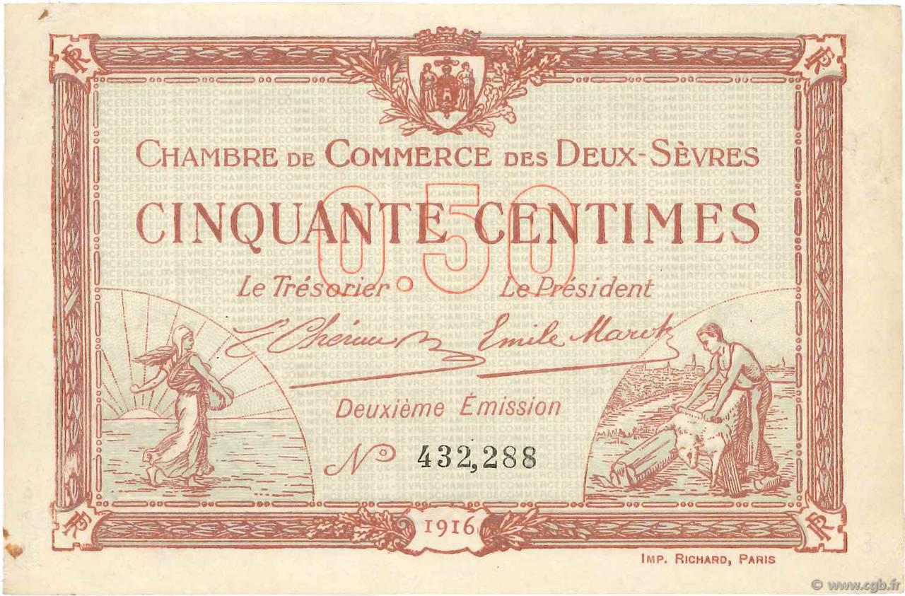 50 centimes france r gionalisme et divers niort 1916 b99 3515 billets - Chambre de commerce niort ...