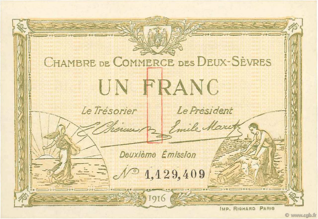 1 franc france r gionalisme et divers niort 1916 b99 3523 billets - Chambre de commerce niort ...