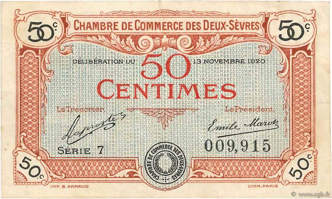 50 centimes france regionalismo e varie niort 1920 b99 3524 banconote - Chambre de commerce niort ...