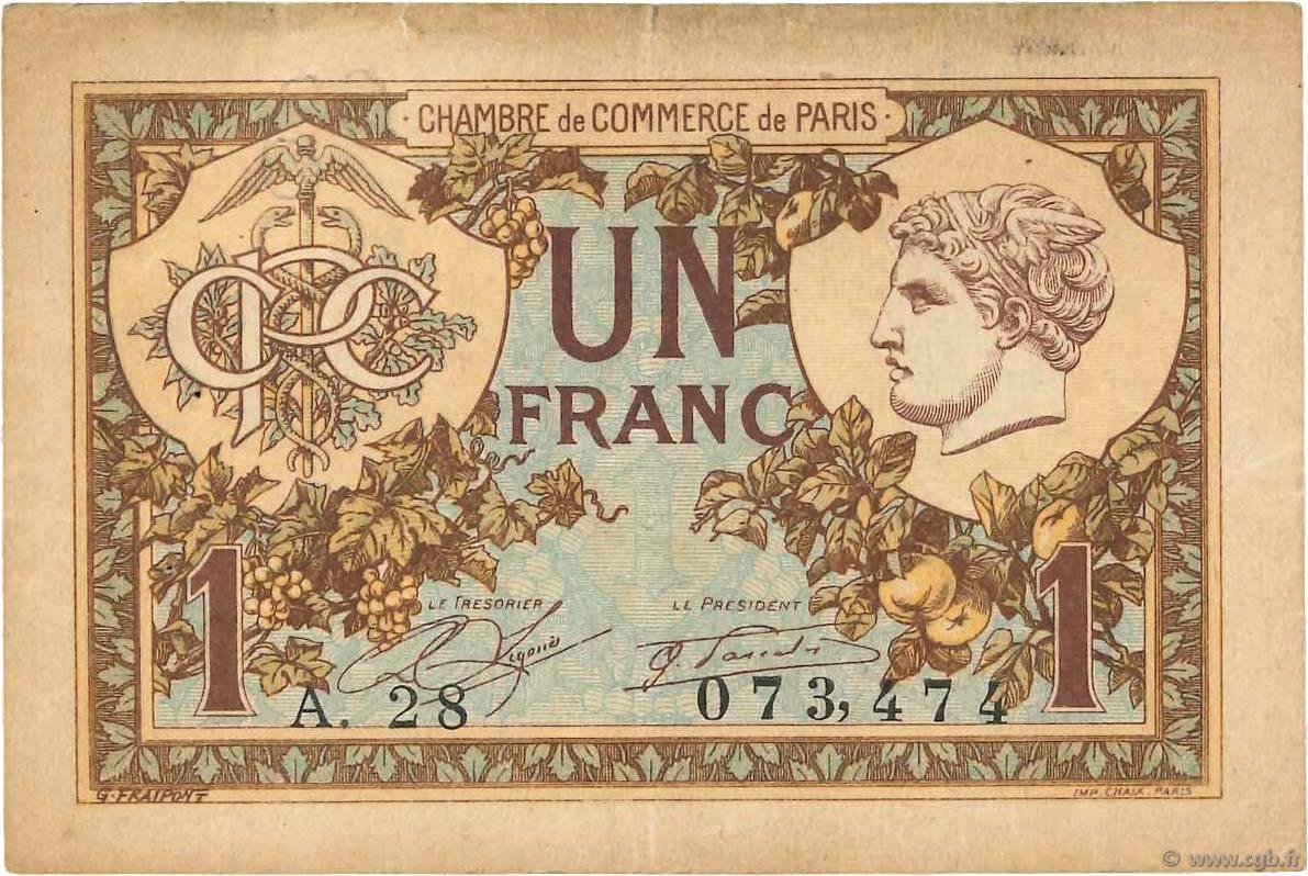 1 franc france r gionalisme et divers paris 1920 b99 3547 billets. Black Bedroom Furniture Sets. Home Design Ideas