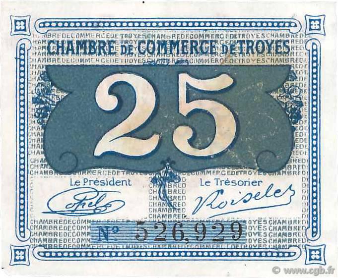 25 centimes france r gionalisme et divers troyes 1918 b99 3578 billets. Black Bedroom Furniture Sets. Home Design Ideas