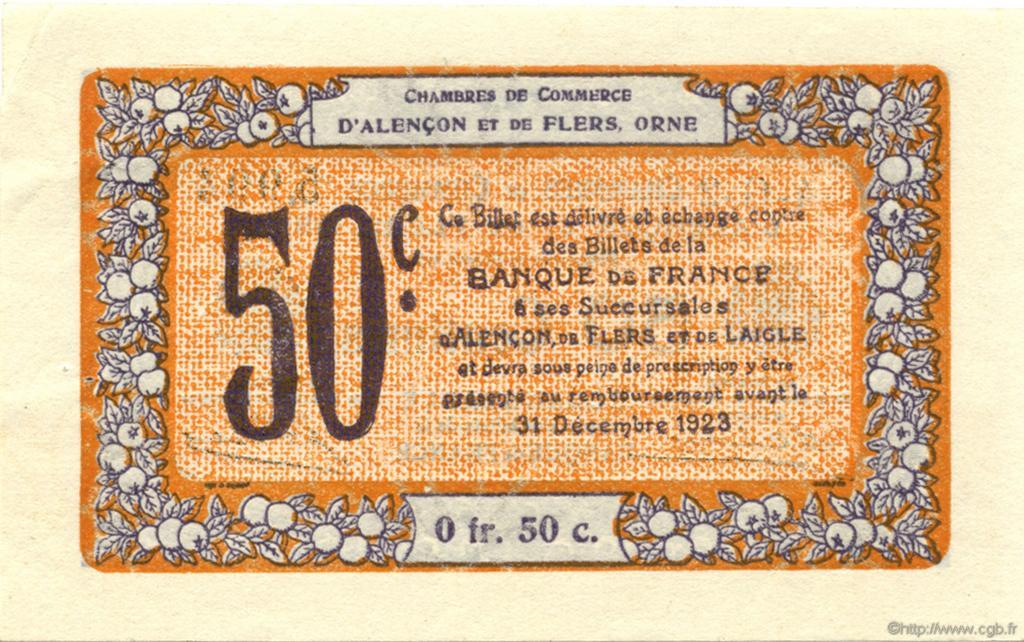 50 centimes france r gionalisme et divers alencon et flers 1915 ttb sup c006 39s billets. Black Bedroom Furniture Sets. Home Design Ideas
