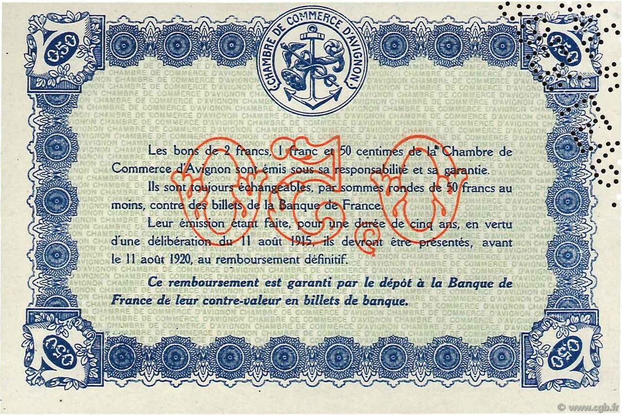 50 centimes france r gionalisme et divers avignon 1915 spl neuf c018 02n billets. Black Bedroom Furniture Sets. Home Design Ideas