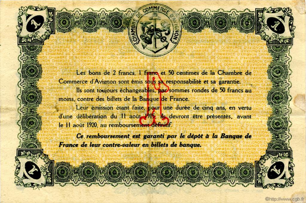 1 franc france r gionalisme et divers avignon 1915 tb c018 05t billets. Black Bedroom Furniture Sets. Home Design Ideas