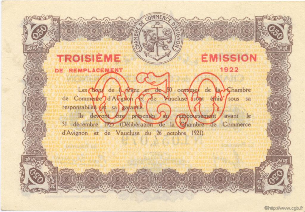 50 centimes france r gionalisme et divers avignon 1922 jp for Chambre de commerce d avignon