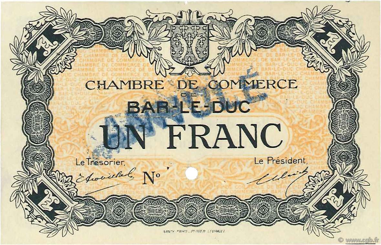 1 franc annul france r gionalisme et divers bar le duc 1920 c019 05n billets. Black Bedroom Furniture Sets. Home Design Ideas