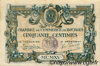 50 centimes france r gionalisme et divers bourges 1915 ttb sup c032 05s billets. Black Bedroom Furniture Sets. Home Design Ideas