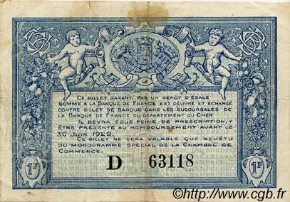 1 franc france r gionalisme et divers bourges 1917 ttb sup c032 09s billets. Black Bedroom Furniture Sets. Home Design Ideas
