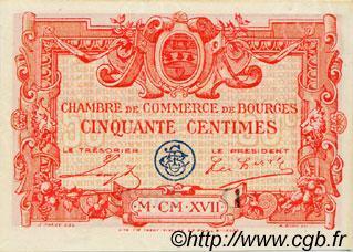 50 centimes france r gionalisme et divers bourges 1917 c032 10s billets. Black Bedroom Furniture Sets. Home Design Ideas
