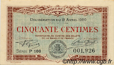 50 centimes france regionalism and various chamb ry 1920 au to unc c044 11n banknotes. Black Bedroom Furniture Sets. Home Design Ideas