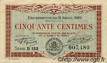 50 centimes france regionalism and miscellaneous chamb ry 1920 c044 11s banknotes. Black Bedroom Furniture Sets. Home Design Ideas