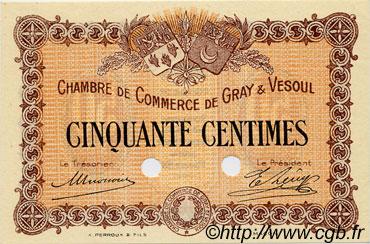 50 centimes sp cimen france r gionalisme et divers gray et vesoul 1915 c062 02n billets. Black Bedroom Furniture Sets. Home Design Ideas