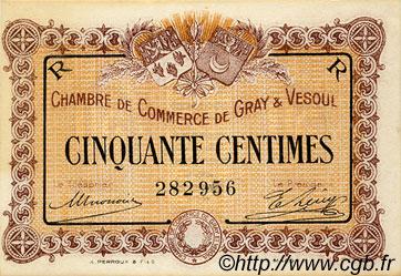 50 centimes france r gionalisme et divers gray et vesoul 1915 c062 07s billets. Black Bedroom Furniture Sets. Home Design Ideas