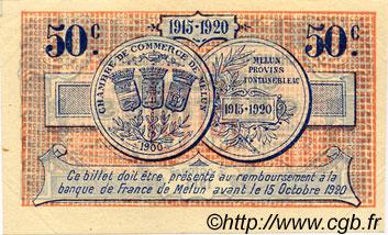 50 centimes france r gionalisme et divers melun 1915 ttb sup c080 01s billets. Black Bedroom Furniture Sets. Home Design Ideas