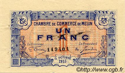 1 franc france r gionalisme et divers melun 1915 c080 03s billets. Black Bedroom Furniture Sets. Home Design Ideas