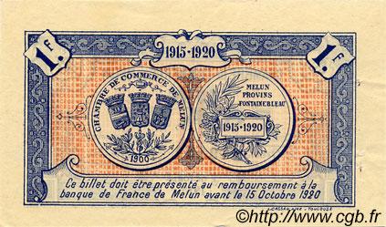 1 franc france r gionalisme et divers melun 1915 ttb sup c080 03s billets. Black Bedroom Furniture Sets. Home Design Ideas