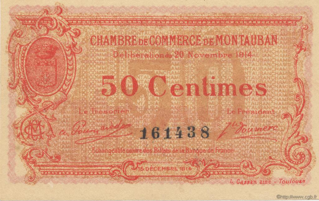 50 centimes france r gionalisme et divers montauban 1914 spl neuf c083 01n billets. Black Bedroom Furniture Sets. Home Design Ideas