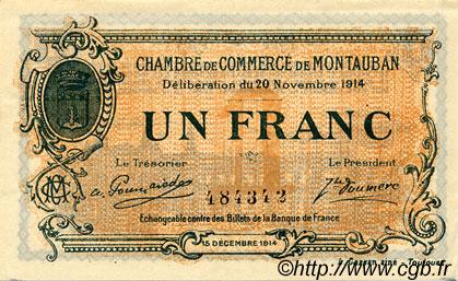1 franc france r gionalisme et divers montauban 1914 c083 06s billets. Black Bedroom Furniture Sets. Home Design Ideas