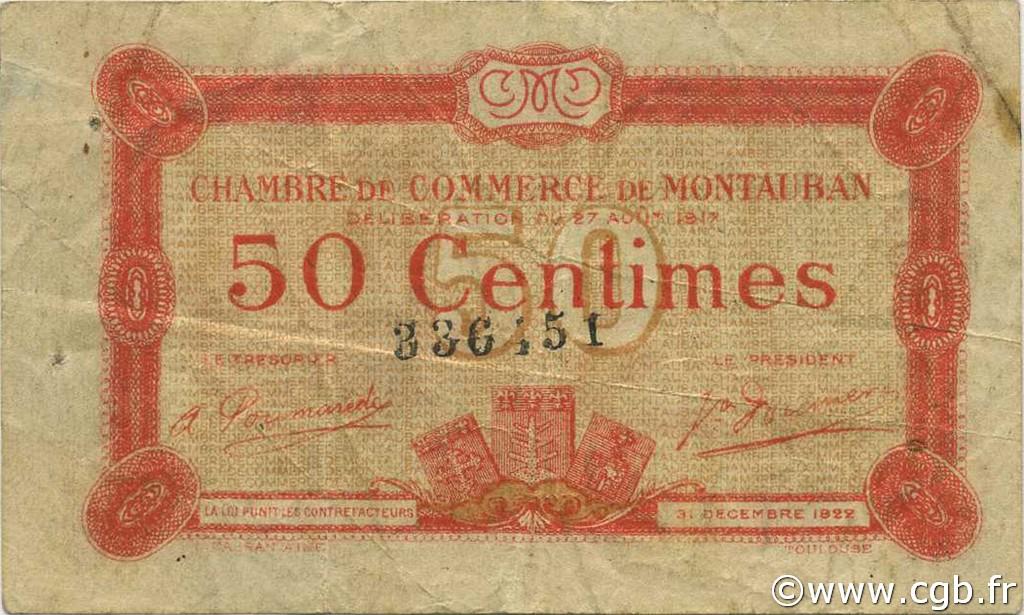 50 centimes france r gionalisme et divers montauban 1917 for Chambre de commerce montauban