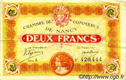 2 Francs FRANCE régionalisme et divers NANCY 1918 JP.087.25 TB