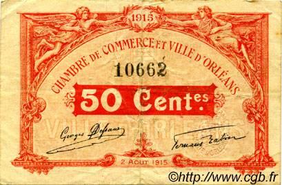 50 centimes france r gionalisme et divers orl ans 1915 tb c095 04t billets. Black Bedroom Furniture Sets. Home Design Ideas