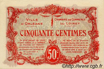 50 centimes france r gionalisme et divers orl ans 1916 spl neuf c095 08n billets. Black Bedroom Furniture Sets. Home Design Ideas